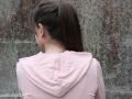 Detailbild der Kapuze vom Hoodie für Frauen - JanaKnöpfchen Nähblog - Nähen für jungs