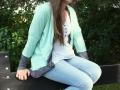 My Cuddel Me Cardigan auf dem Zaun. JanaKnöpfchen Nähen für Jungs