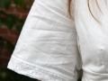 weißes Burdakleid Arm und Brust. JanaKnöpfchen nähen für jungs
