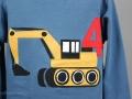 Geburtstagsshirt mit Bagger Applikation für Jungs. JanaKnöpfchen - Nähen für Jungs