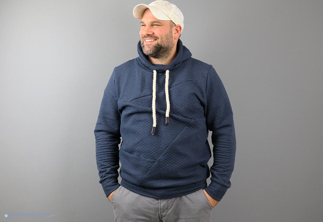 Freestyle Hoodie für Männer genäht. Jahresrückblick 2019 - JanaKnöpfchen. Nähen für Jungs