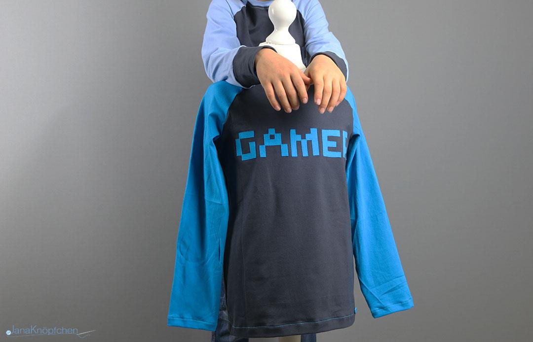 Gamer-Shirt für große Jungs nähen. Jahresrückblick 2019 - JanaKnöpfchen. Nähen für Jungs