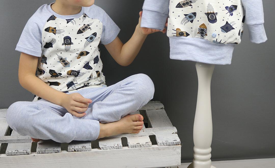 Raketenschlafanzug für Jungs nähen. Jahresrückblick 2019 - JanaKnöpfchen. Nähen für Jungs