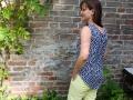 Burda Style selbstgenähtes Oberteil Rückenansicht. JanaKnöpfchen - Nähen für Jungs