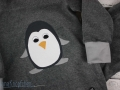 applikation pinguin auf selbstgenähten Schlafanzug. JanaKnöpfchen. Nähblog - Nähen für Jungs