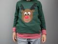 Selbstgenähtes Weihnachtsshirt mit Rudolf Applikation für Jungs.  JanaKnöpfchen - Nähen für Jungs