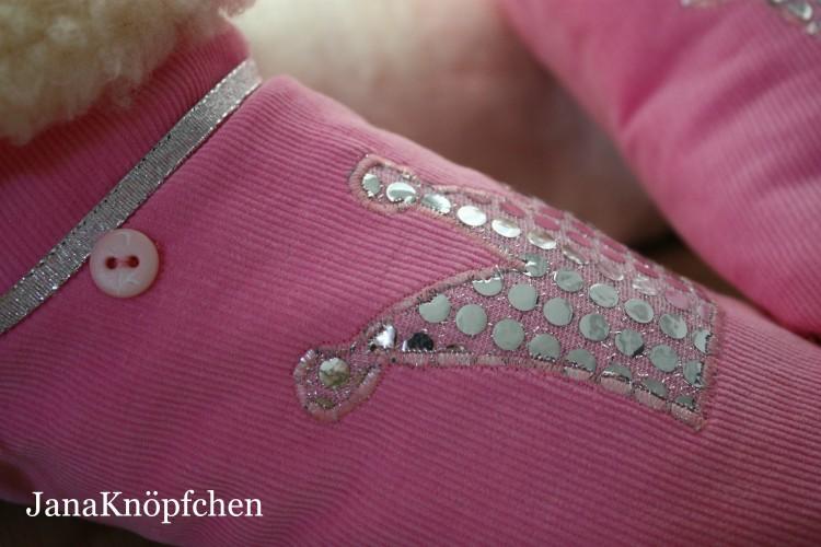 Hausschuhe Gunilla in rosa und mit Glitzerkrone für große Prinzessinnen. JanaKnöpfchen - Nähen für Jungs