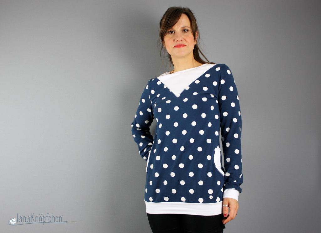 Shirt für Frauen nähen - Shirt Ida von Kreativlabor Berlin Probenähen. JanaKnöpfchen - Nähblog
