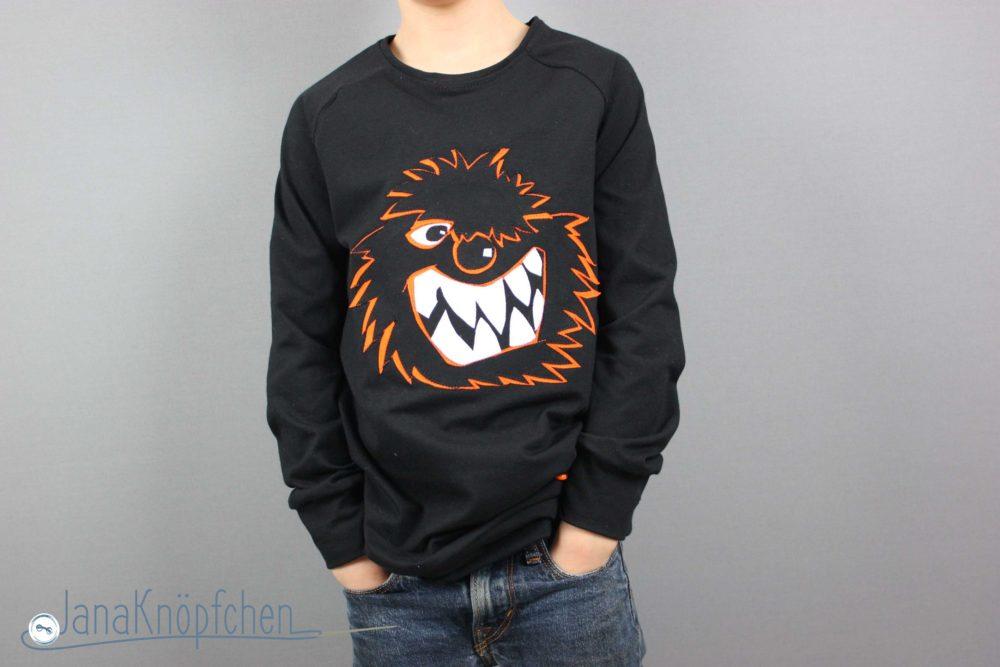 Cooles Wilde Kerle Shirt mit Wilde Kerle Applikation für Jungs. JanaKnöpfchen - Nähen für Jungs. Nähblog