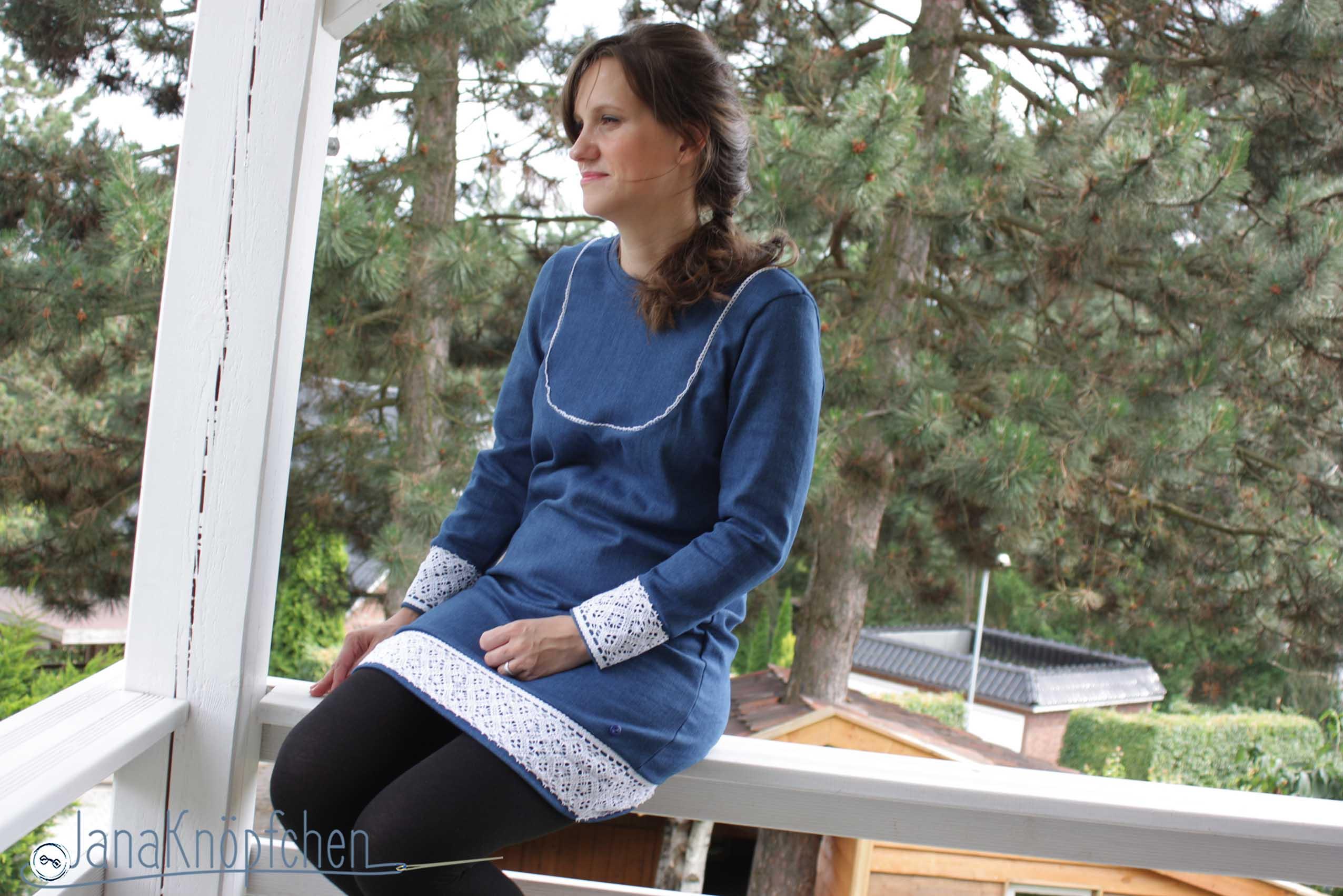 Kleid Mathilda nähen aus Jeans für 12 Colorsofhandmadefashion im Juni. JanaKnöpfchen - Nähen für Jungs. Nähblog