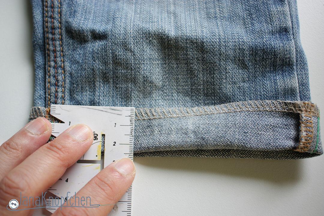 Tutorial Kürzen von Jeans Umschlagmaß festlegen. JanaKnöpfchen - Nähen für Jungs