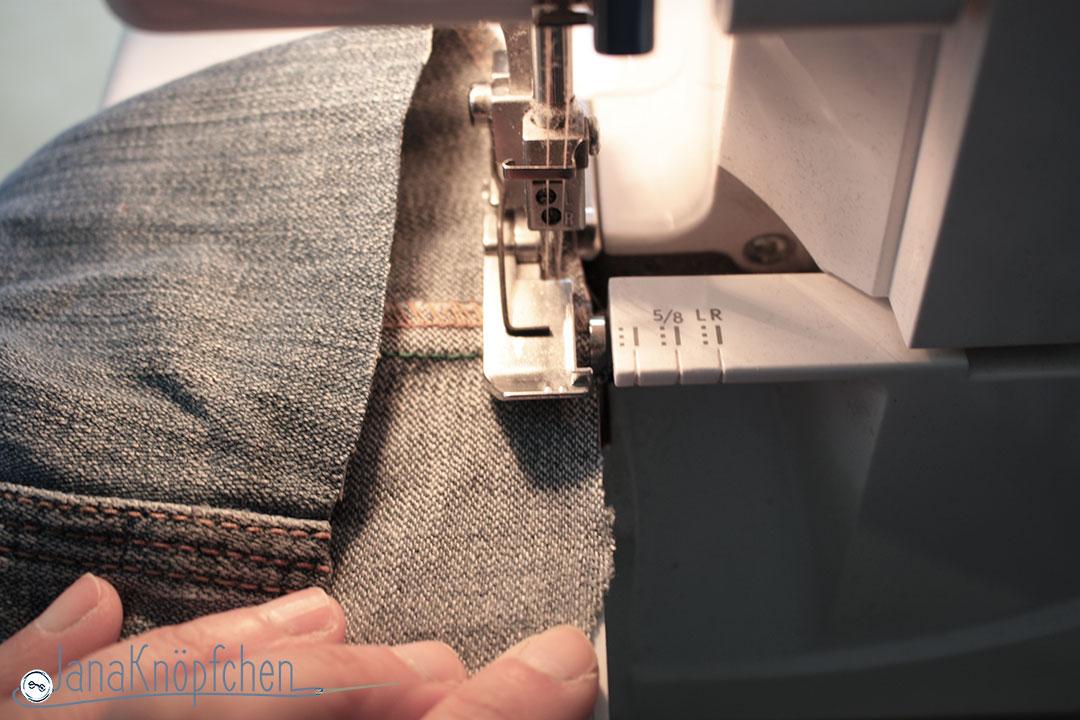 Tutorial Kürzen von Jeans. Versäubern der Saumnaht. JanaKnöpfchen - Nähen für Jungs
