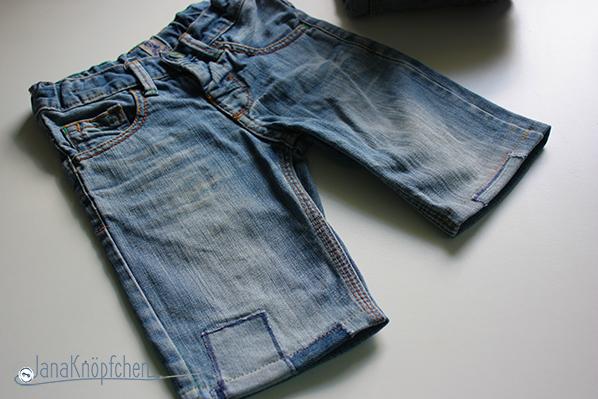 Tutorial aus langer Jeans eine kurze jeans nähen. JanaKnöpfchen - Nähen für Jungs. Nähblog