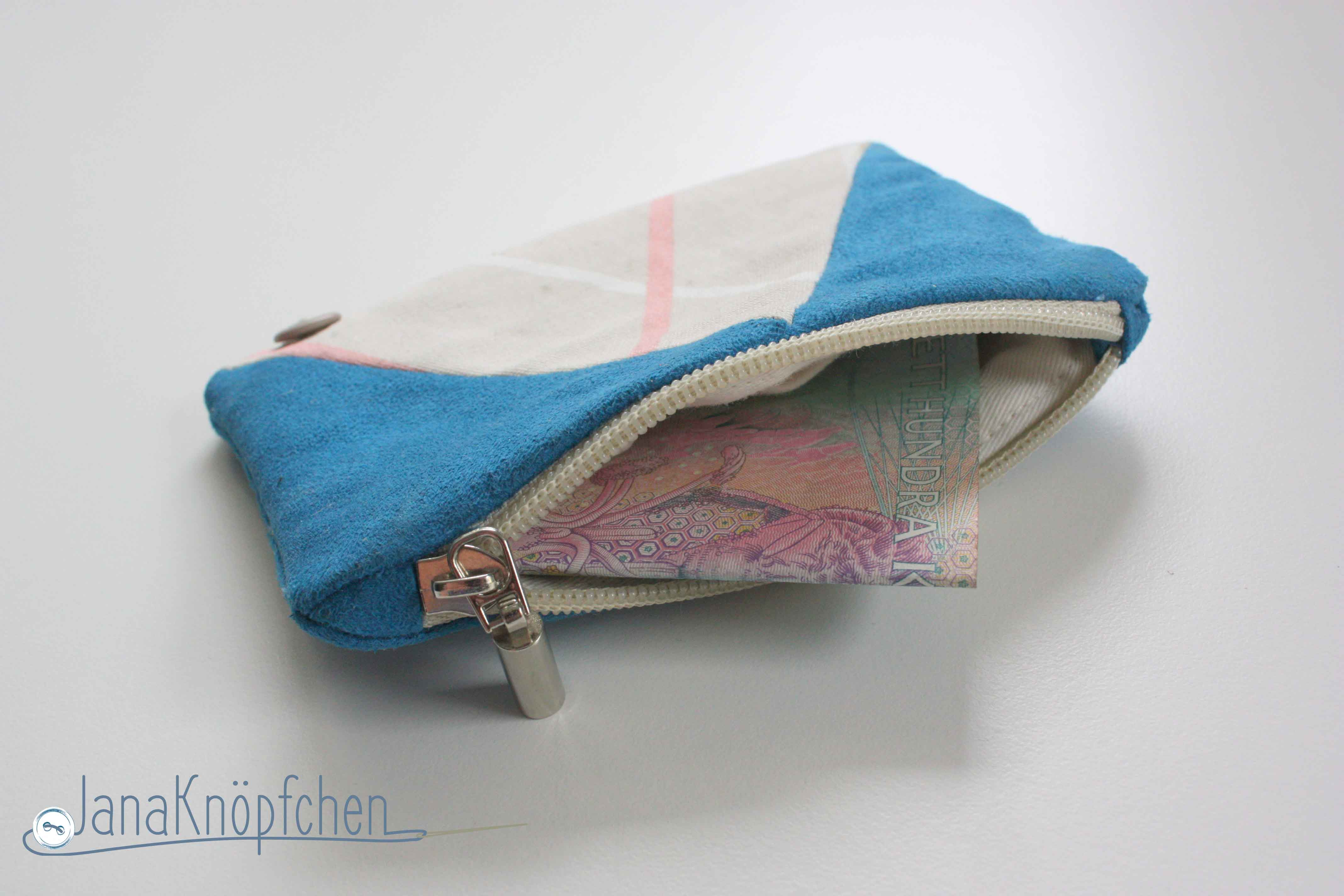 Portemonnaie selbst genaeht. JanaKnoepfchen. Naehblog