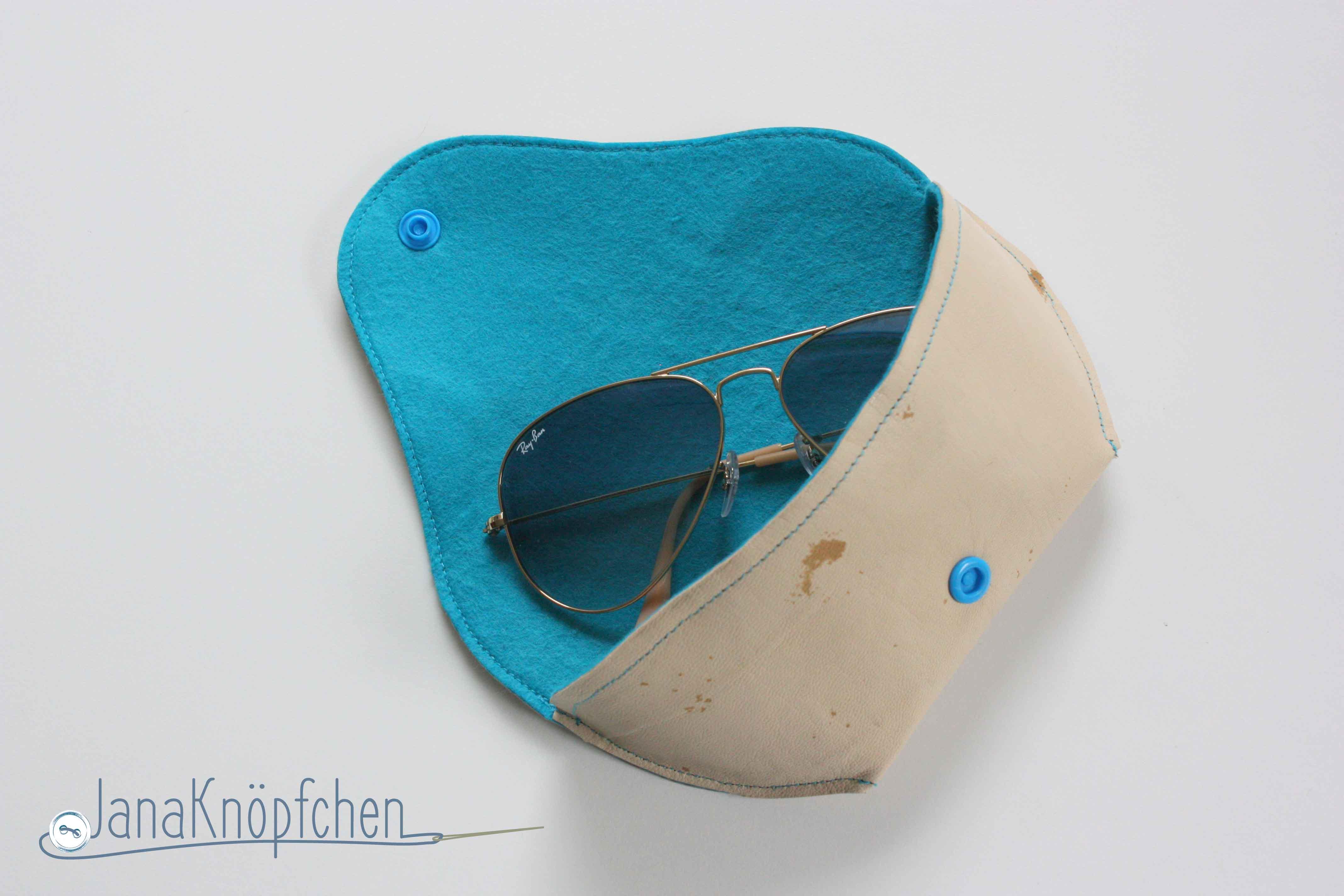 Sonnenbrilleetui selbst genaeht. JanaKnoepfchen Naehblog