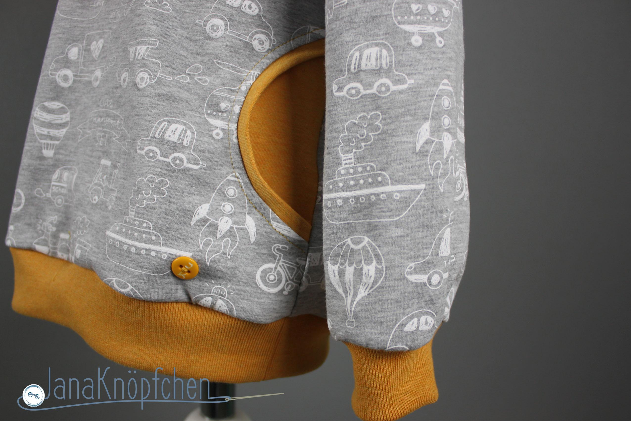 Bauchtasche an hoodie naehen. janaknoepfchen. nähblog - nähen für jungs