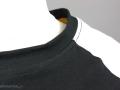 Selbstgenähtes Geburtstagsshirt - Detail Halsausschnitt vorne. JanaKnöpfchen - Nähen für Jungs