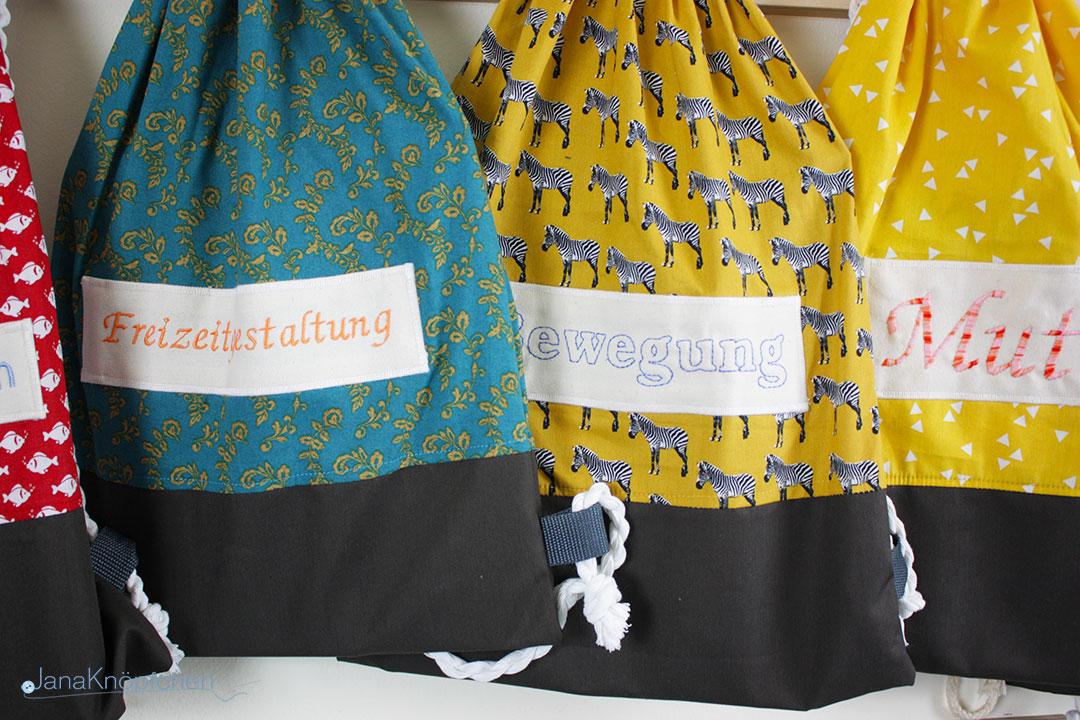 Kinderbücher und Bücherrucksäcke nähen Projekt mit dem Familienzentrum Schwielowsee. JanaKnöpfchen - Nähen für Jungs