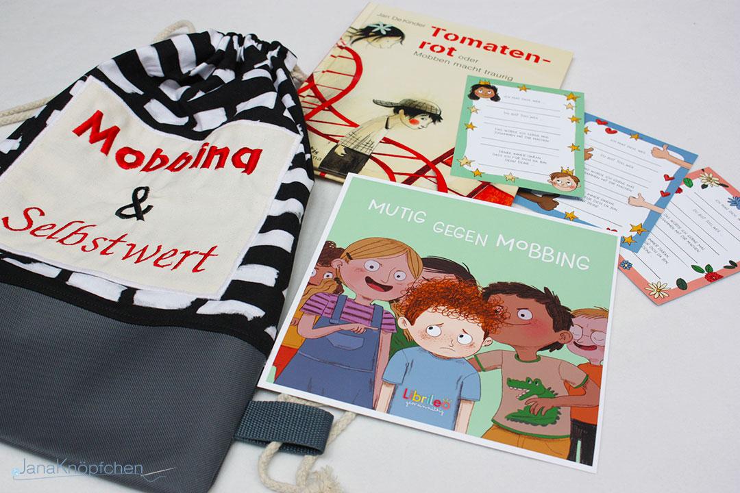 Thema Mobbing Projekt Bücherrucksäcke für das Familienzentrum Schwielowsee.JanaKnöpfchen - Nähen für Jungs