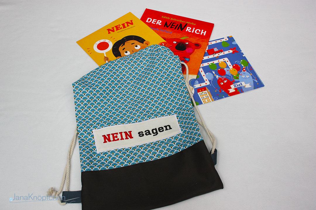 Thema nein sagen Bücherrucksäcke nähen Projekt Familienzentrum Schwielowsee. JanaKnöpfchen - Nähen für Jungs