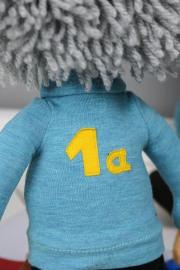 Rückennummer der 1a. JanaKnöpfchen - Nähen für Jungs