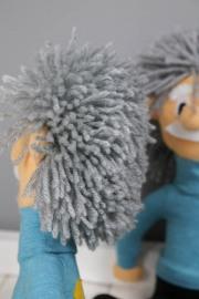 Wuschelige Haare der Einsteinpuppen. JanaKnöpfchen - Nähen für Jungs
