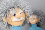 Gesicht der Albert Einsteinpuppen. JanaKnöpfchen - Nähen für Jungs