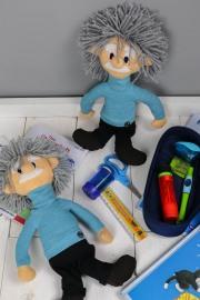 Albert Einstein als Klassenmaskottchen nähen. JanaKnöpfchen - Nähen für Jungs