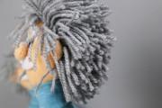 Haar aus Wolle der Einsteinpuppen. JanaKnöpfchen - Nähen für Jungs