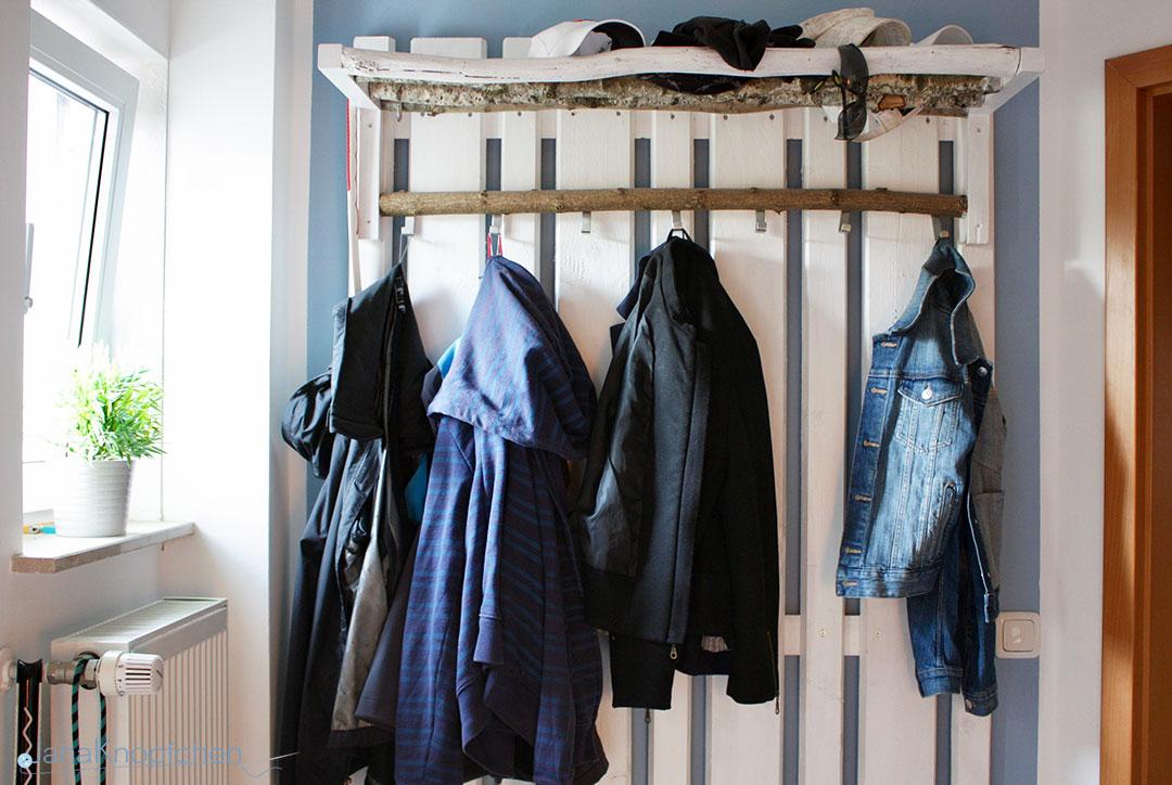 DIY Garderobe Für Den Flur Aus Holz. JanaKnöpfchen   Nähen Für Jungs