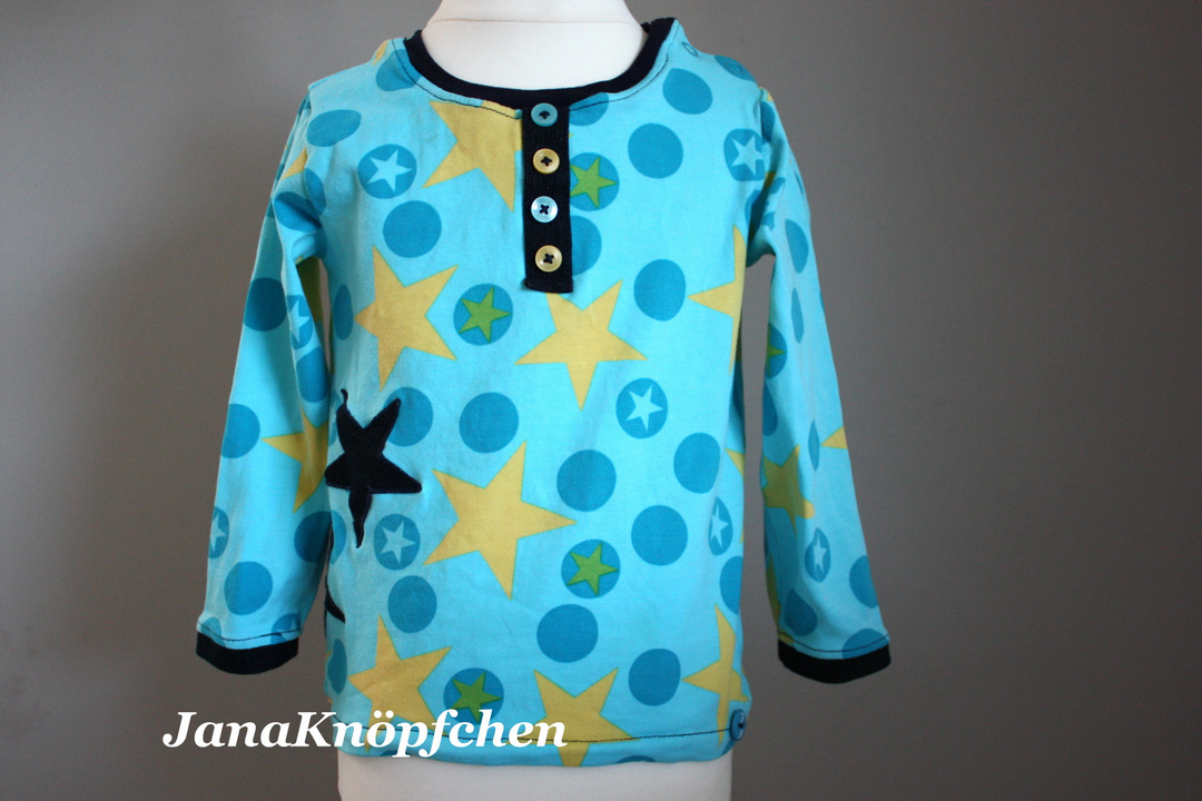 JanaKnöpfchen Langarmshirt für Jungs mit Knopfleiste