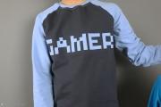 Applikation Gamer auf Shirt nähen. JanaKnöpfchen - Nähen für Jungs