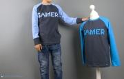 Zwei Shirts mit Gamer-Applikation für Jungs genäht. JanaKnöpfchen - Nähen für Jungs