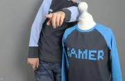 Gamershirt als Raglanshirt genäht. JanaKnöpfchen - Nähen für Jungs