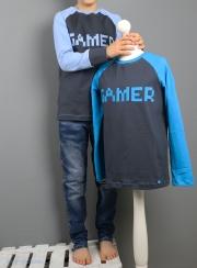 Selbstgenähtes Gamer-Shirt mit Applikation für Jungs. JanaKnöpfchen - Nähen für Jungs