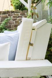 Selbstgenähte Rückenlehne für Gartenschaukel. JanaKnöpfchen - Nähblog
