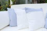 Selbstgenähte Kissen für Gartenschaukel. JanaKnöpfchen - Nähblog