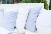 Kissen für Rückenlehne der Gartenschaukel. JanaKnöpfchen - Nähblog