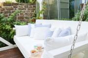 Gartenschaukel mit Kissen und Auflagen selbstgemacht. JanaKnöpfchen - Nähblog