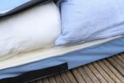 Kissen für die Gartenschaukel - Schutzhülle genäht. JanaKnöpfchen