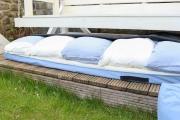 Auflagen für Gartenschaukel und Kissen in Hülle verstauen. JanaKnöpfchen