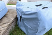Tasche für Gartenkissen nähen. JanaKnöpfchen