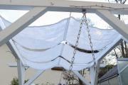 Welchen Stoff verwende ich für ein selbstgenähtes Sonnensegel. JanaKnöpfchen - Nähblog
