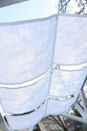 Schwung des selbstgenähten Sonnensegel. JanaKnöpfchen - Nähblog