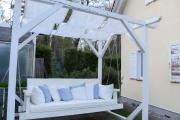 Gartenschaukel mit Sonnensegel selber machen. JanaKnöpfchen - Nähblog