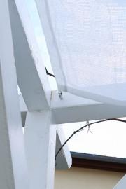 Befestigung der Sonnensegel an Balken. JanaKnöpfchen - Nähblog
