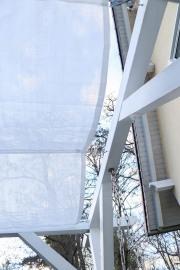 Sonnensegel aus Wind- und Sichtschutzgewebe nähen. JanaKnöpfchen - Nähblog