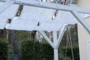 Sonnensegel für Gartenschaukel selbstgenäht. JanaKnöpfchen - Nähblog