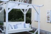 Gartenschaukel mit selbstgenähten Sonnensegeln. JanaKnöpfchen - Nähblog