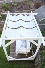 Sonnensegel für Schatten auf der Gartenschaukel. JanaKnöpfchen - Nähblog